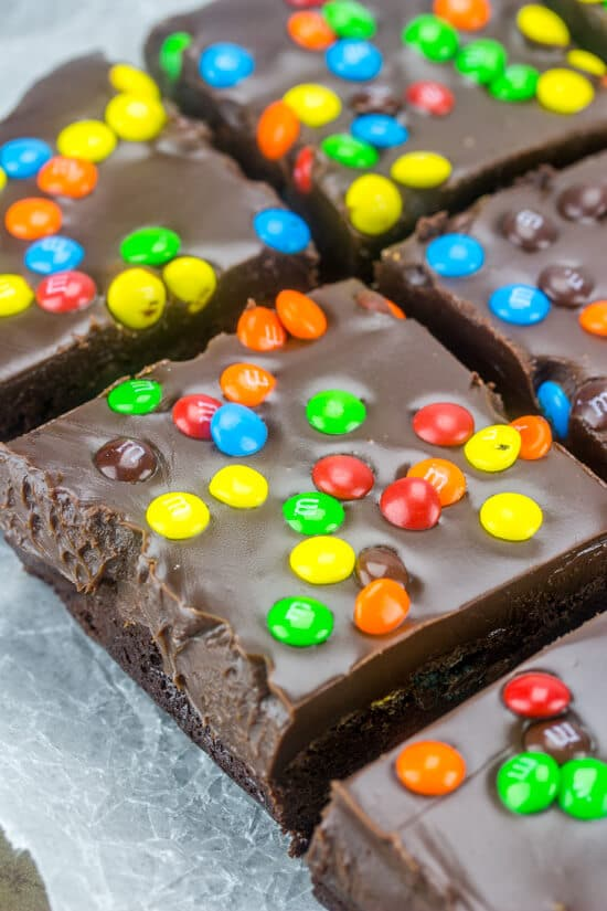 M&M Fudge Brownies
