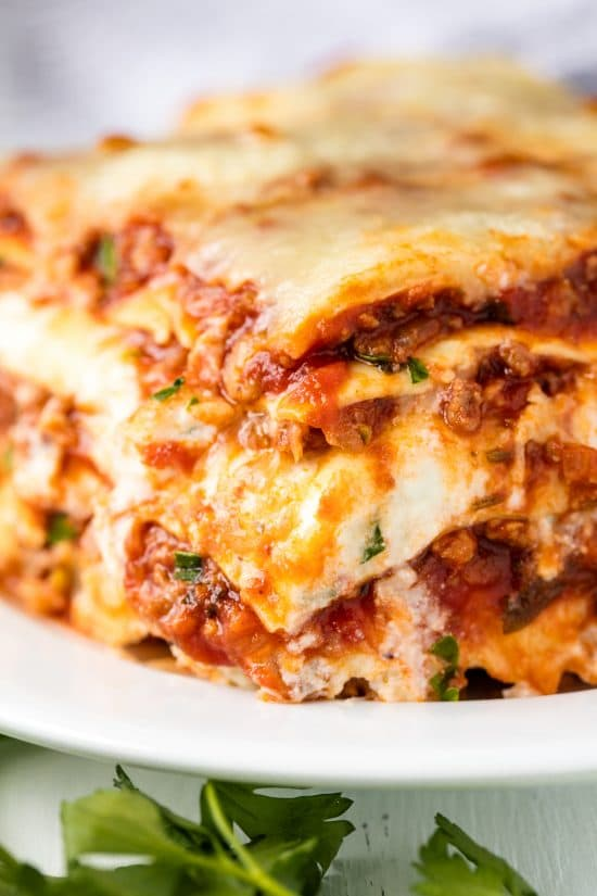 How long to bake homemade lasagna noodles