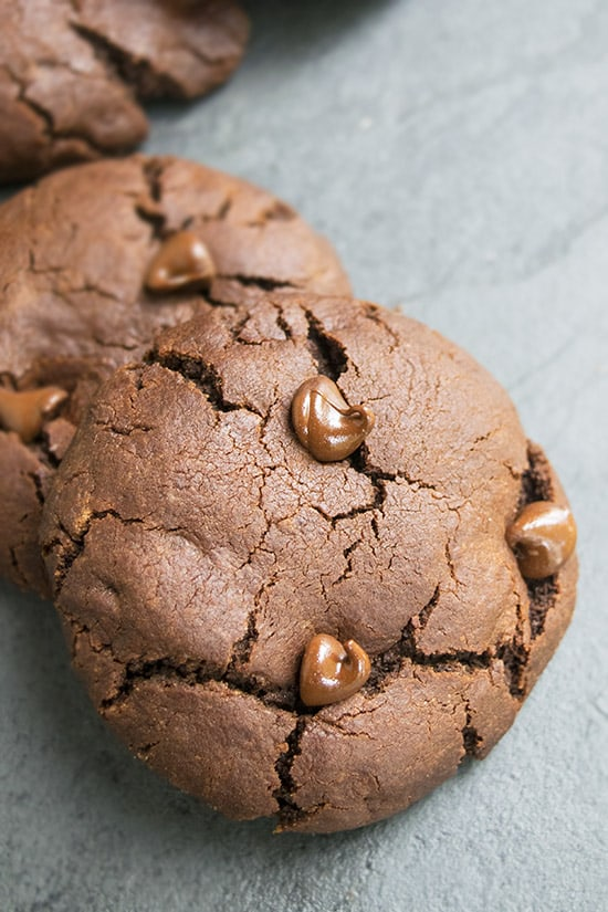 These triple chocolate cookies are rich, fudgy and decadent. They are loaded with chocolate and ready in less than 30 minutes.