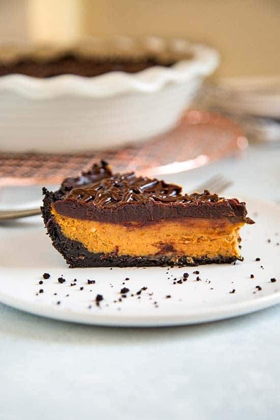 Chocolate Glazed Pumpkin Pie