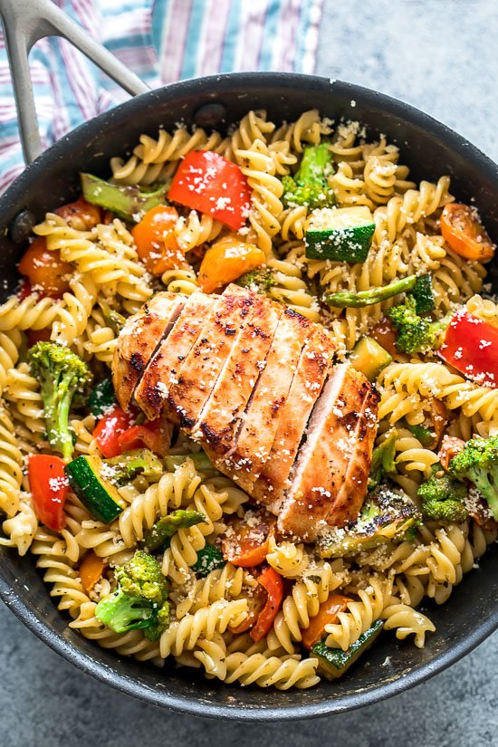 Easy Chicken Pasta Primavera Thestayathomechef