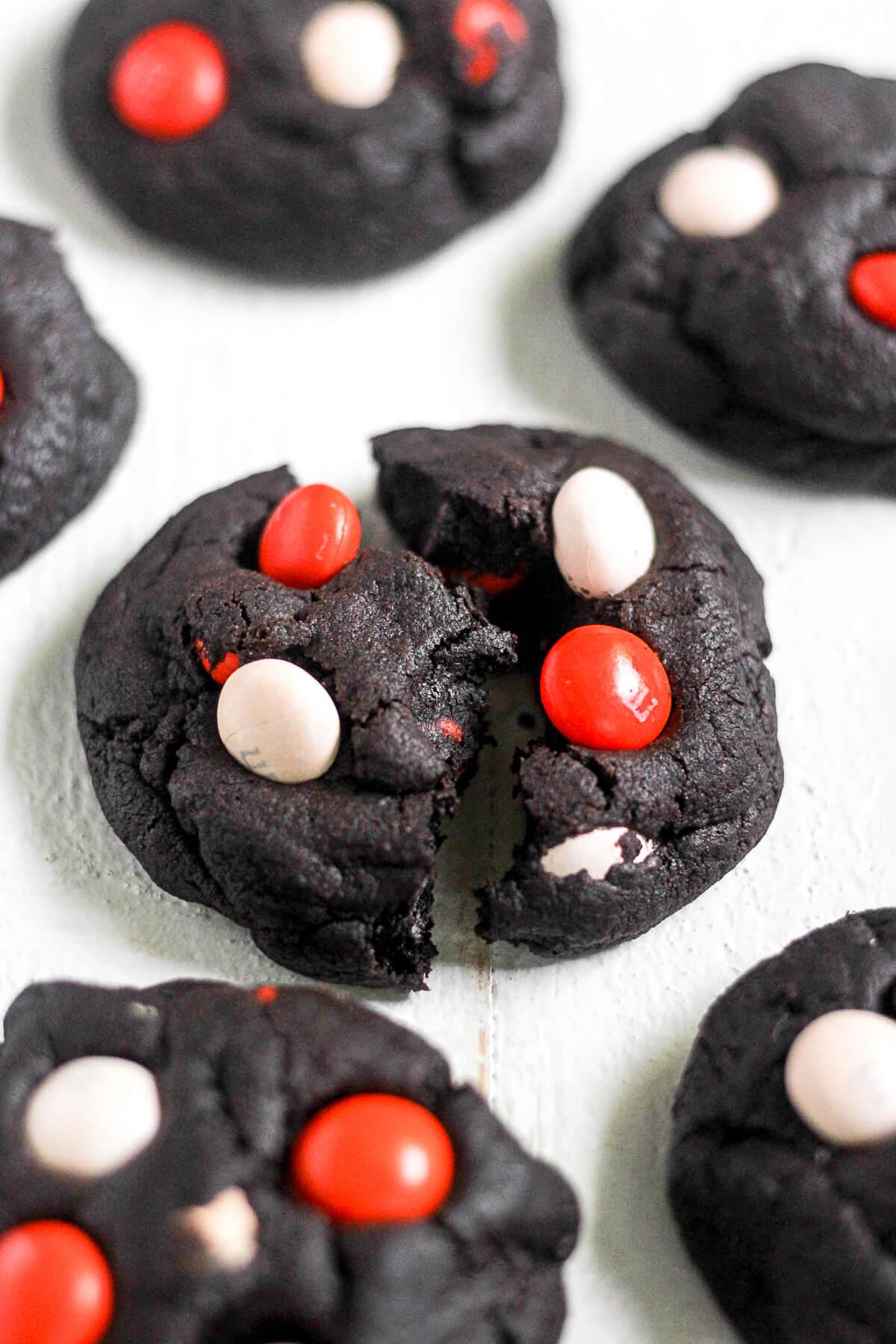 Dark Chocolate Halloween Cookies Thestayathomechefcom
