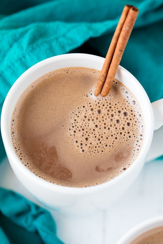 Caramelized Cinnamon Hot Chocolate