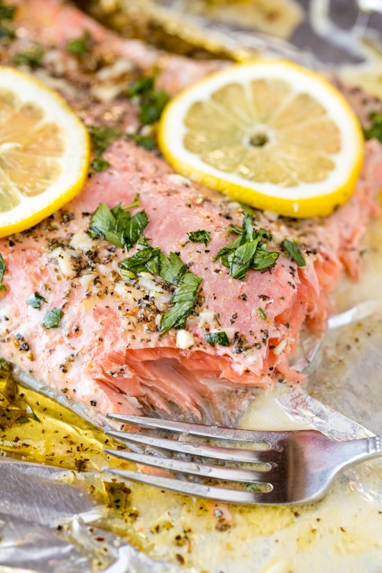 Easy Garlic Herb Baked Salmon