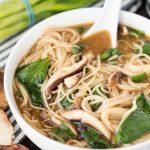 A bowl of Noodle Miso Soup