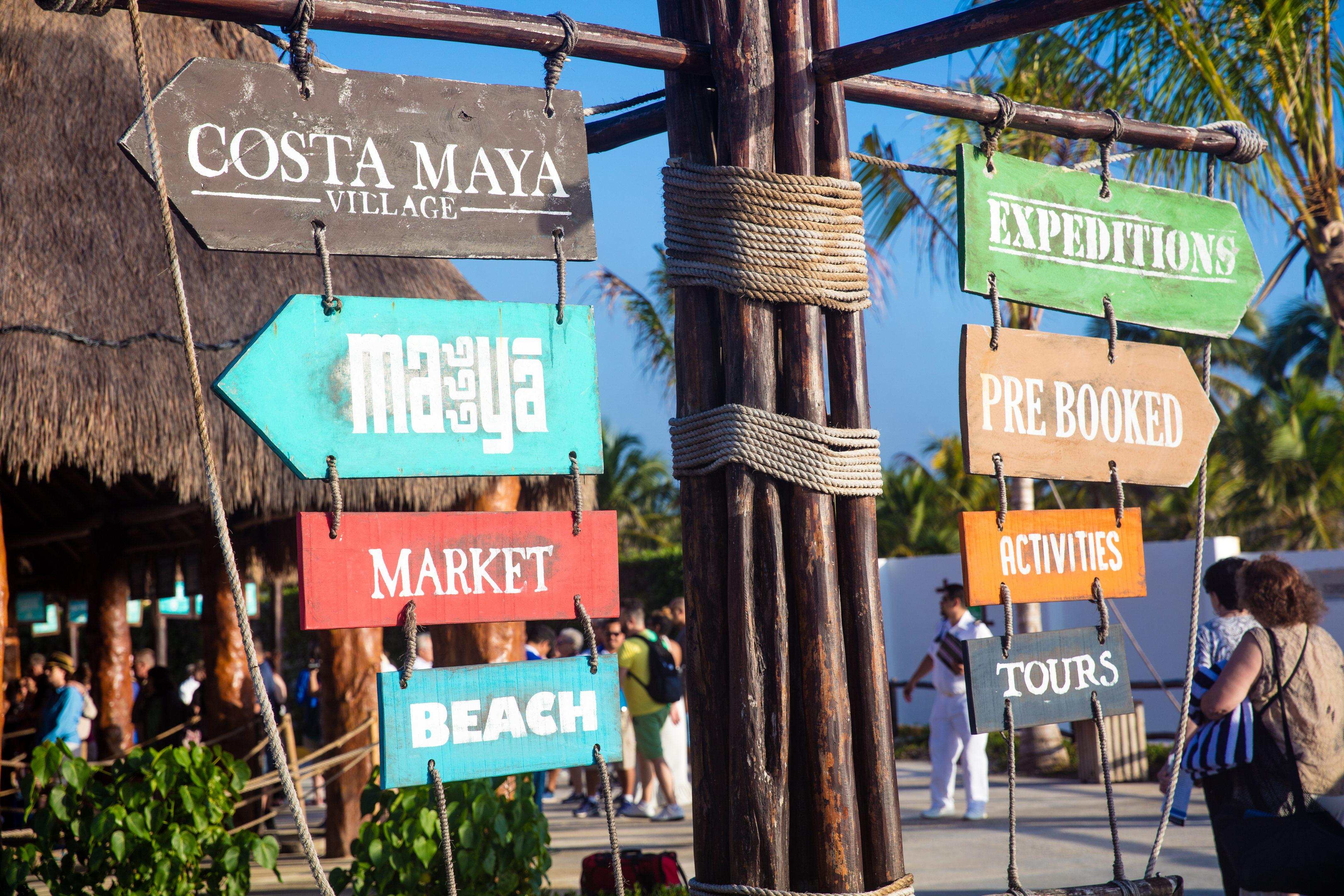 Costa Maya Port Sign
