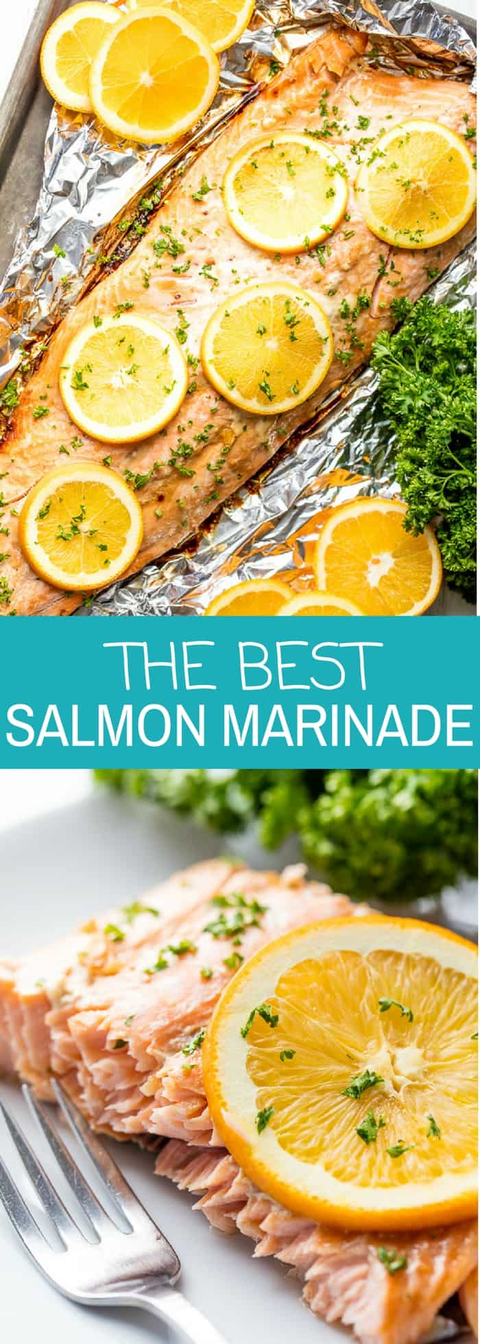 The Best Salmon Marinade requires just a handful of ingredients to bring out the best flavor in your salmon. It's the best marinade for salmon whether you are making grilled salmon or oven baked.