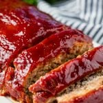 Turkey Meatloaf with a glaze, cut into slices