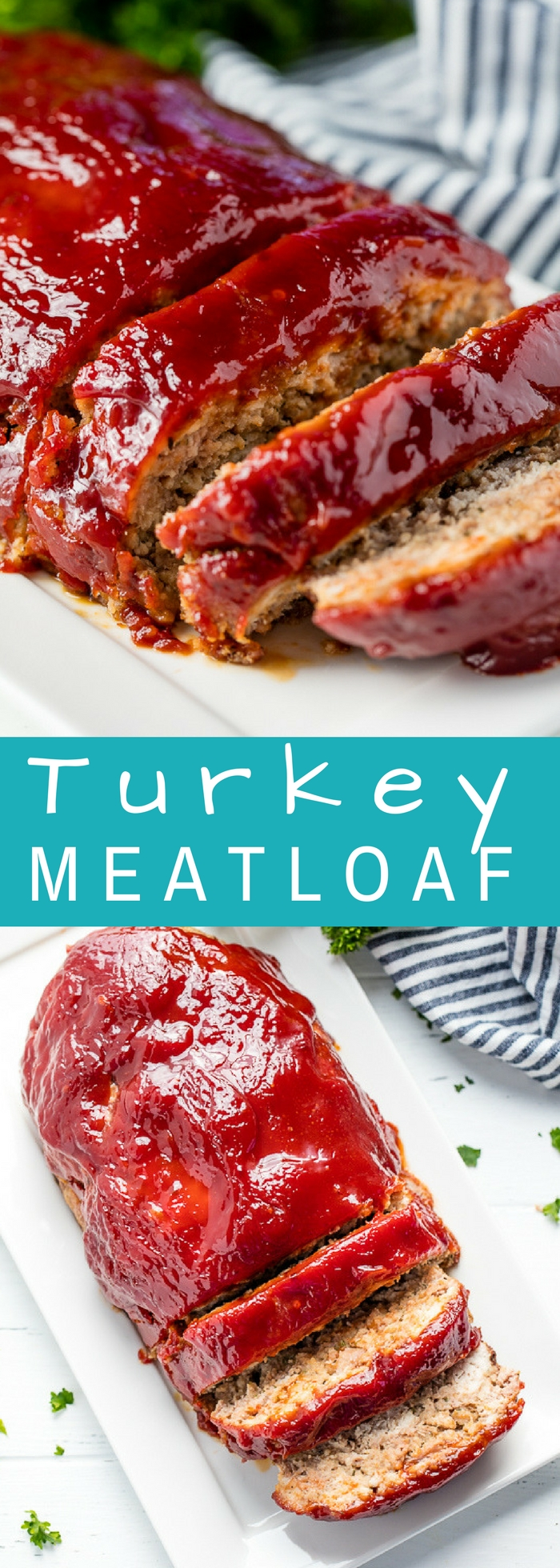 This Turkey Meatloaf recipe doesn't sacrifice any flavor. It's easy to make and is topped off with the most delicious glaze! Your family will love this heart healthy version of a classic American dinner.