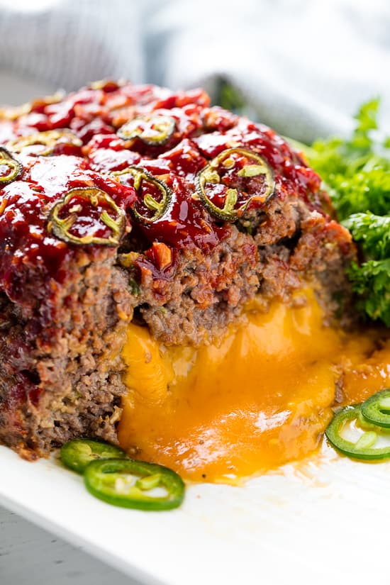 Jalapeno Cheddar Stuffed Meatloaf