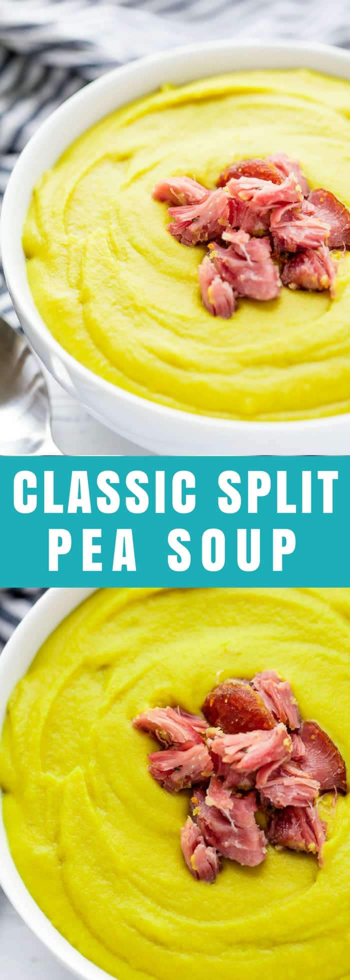 Split Pea Soup is a classic American soup made from dried split peas. It's good for you, packed full of nutrients, and it still tastes like total comfort food.