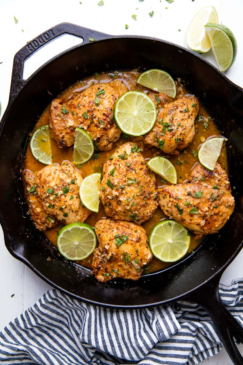 Easy Garlic Lime Skillet Chicken