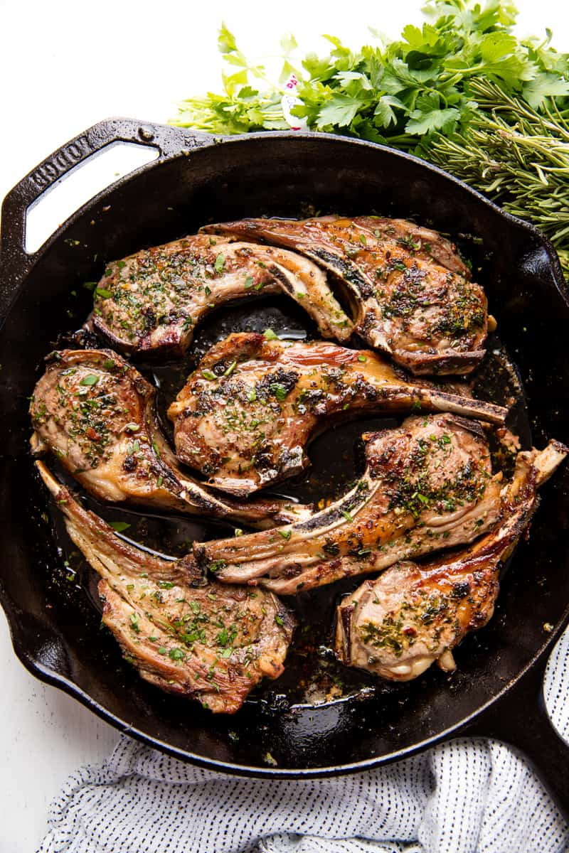 Garlic Herb Lamb Chops