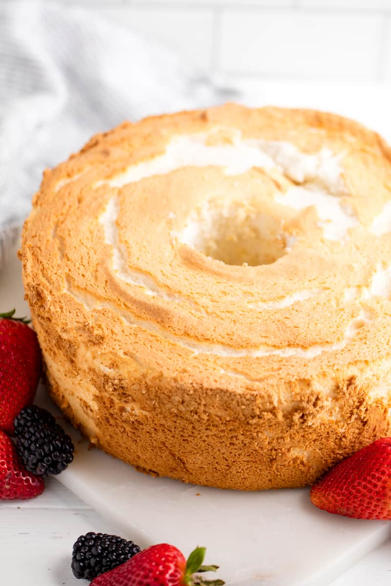 Angel Food Cake In Regular Cake Pan