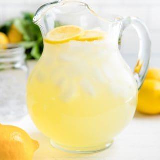 It's easy to make homemade lemonade! Learn how to make lemonade: old fashioned, freshly squeezed homemade lemonade recipe using real lemons.