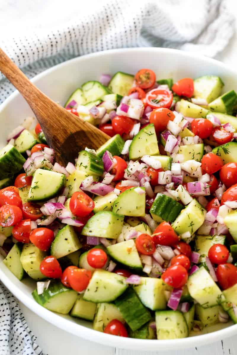 Healthy Cucumber Tomato Salad