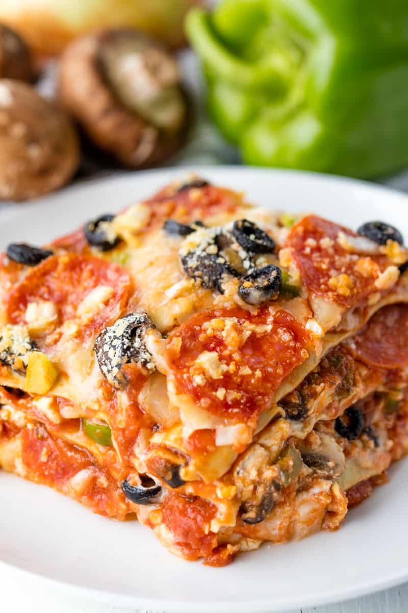 Deep Dish Pizza Lasagna