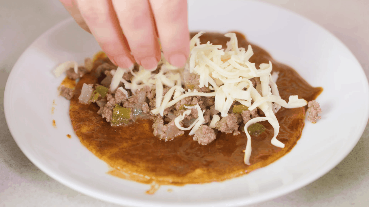 Beef Enchilada Filling with Cheese