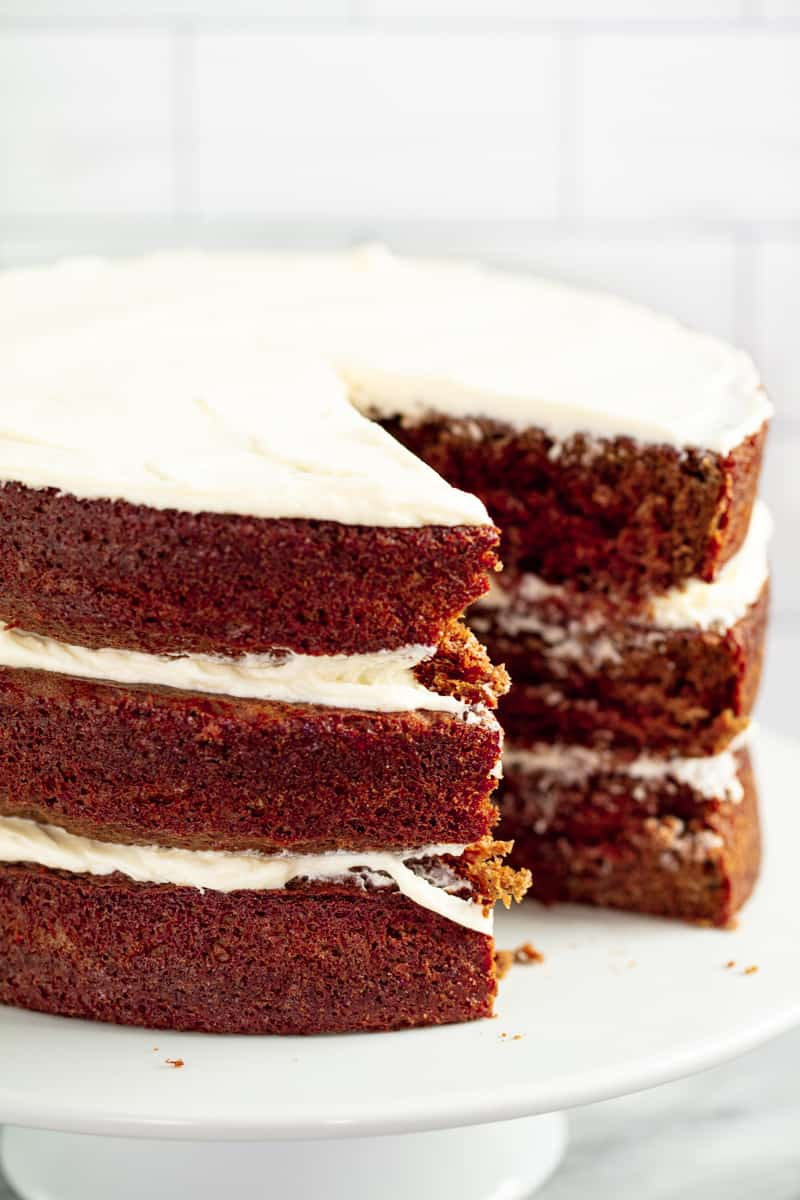 Naturally Red Velvet Cake with Ermine Icing