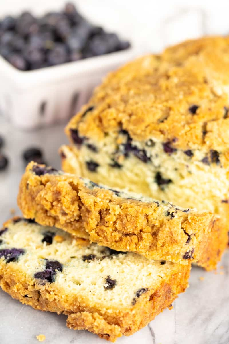 Blueberry Pancake Bread Loaf