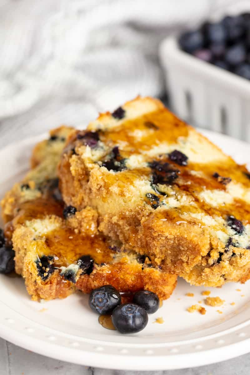 Blueberry Pancake Bread with Syrup