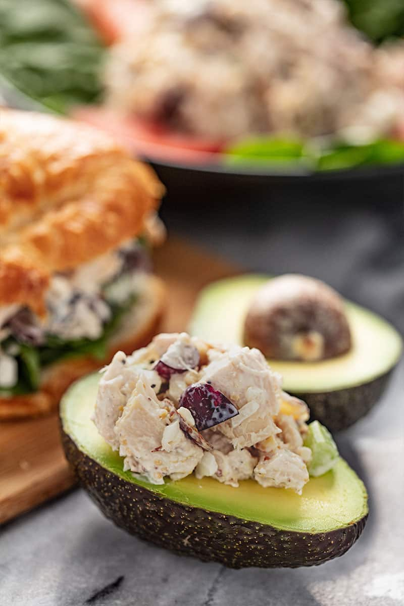 Chicken Salad in an avocado.