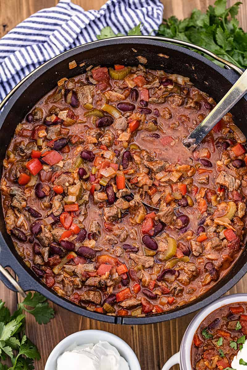 Cast Iron Dutch Oven Chili