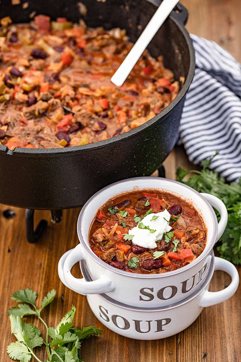 Camping Dutch Oven Chili
