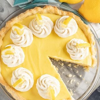 Old Fashioned Creamy Lemon Pie