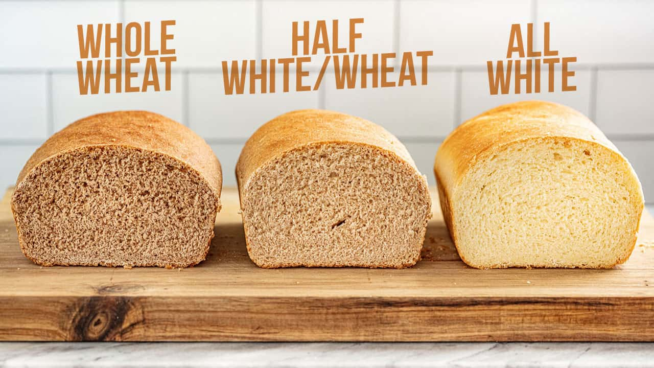 Visual Differences Between Whole Wheat and All White Bread