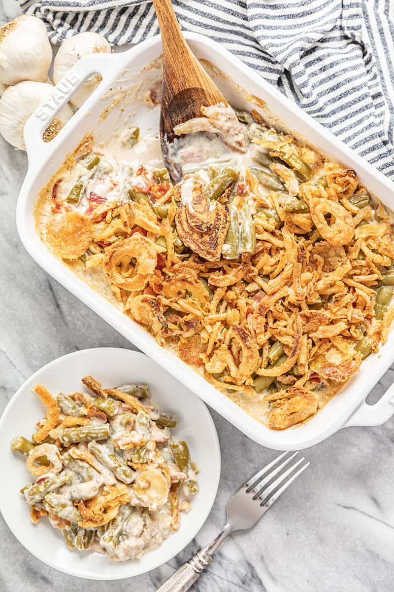 Green Bean Casserole with bacon