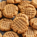 Pile of peanut butter cookies