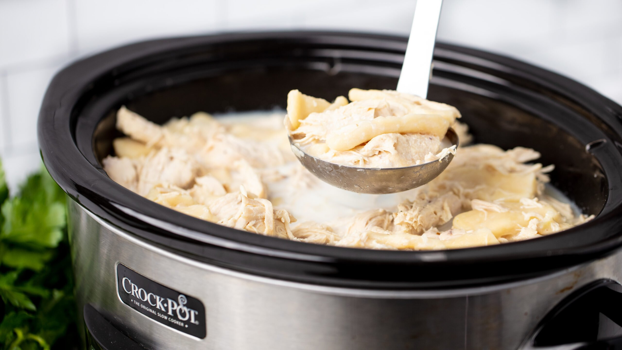 Chicken and dumplings in a crockpot