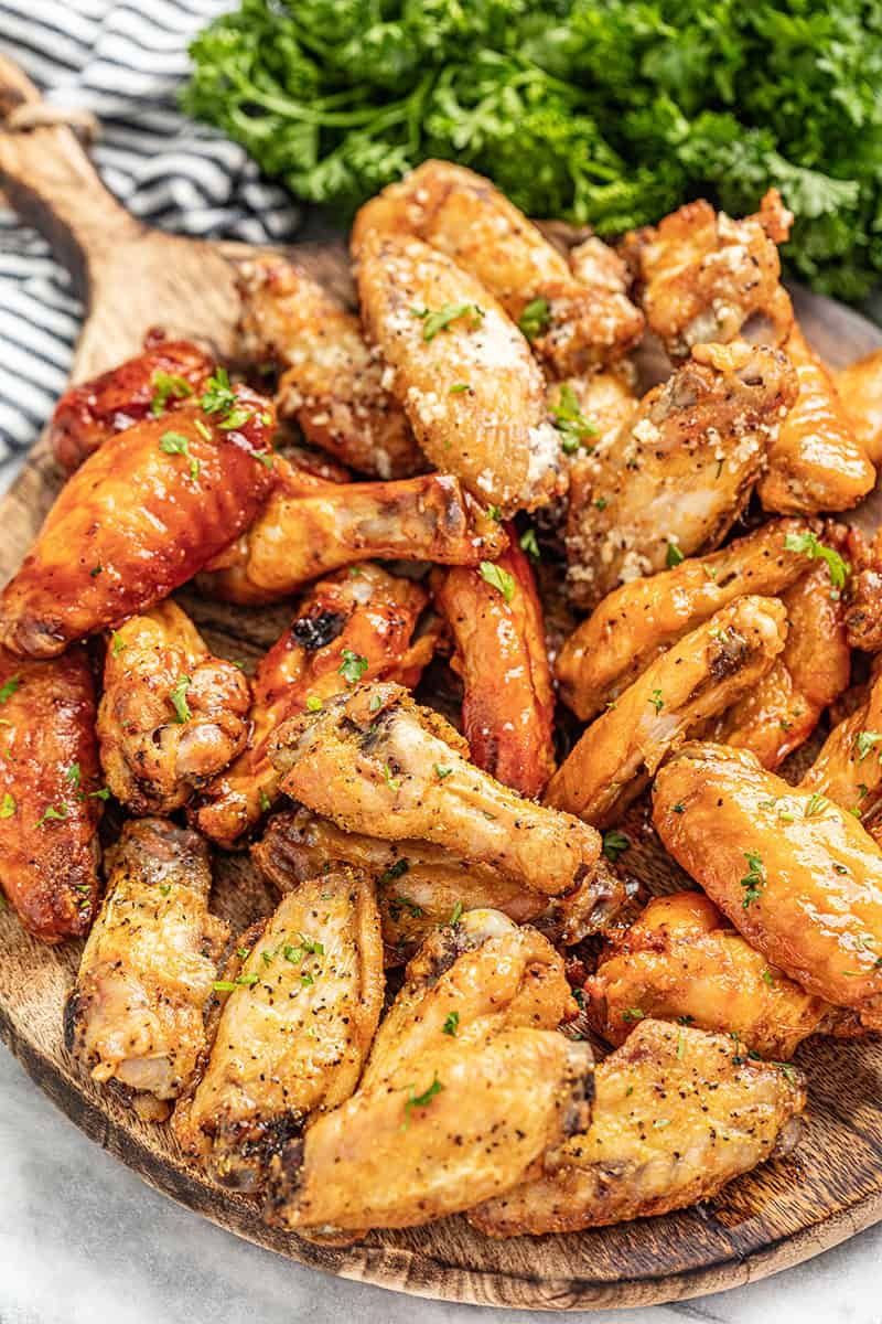 Crispy Oven Baked Chicken Wings Any Flavor Thestayathomechef Com