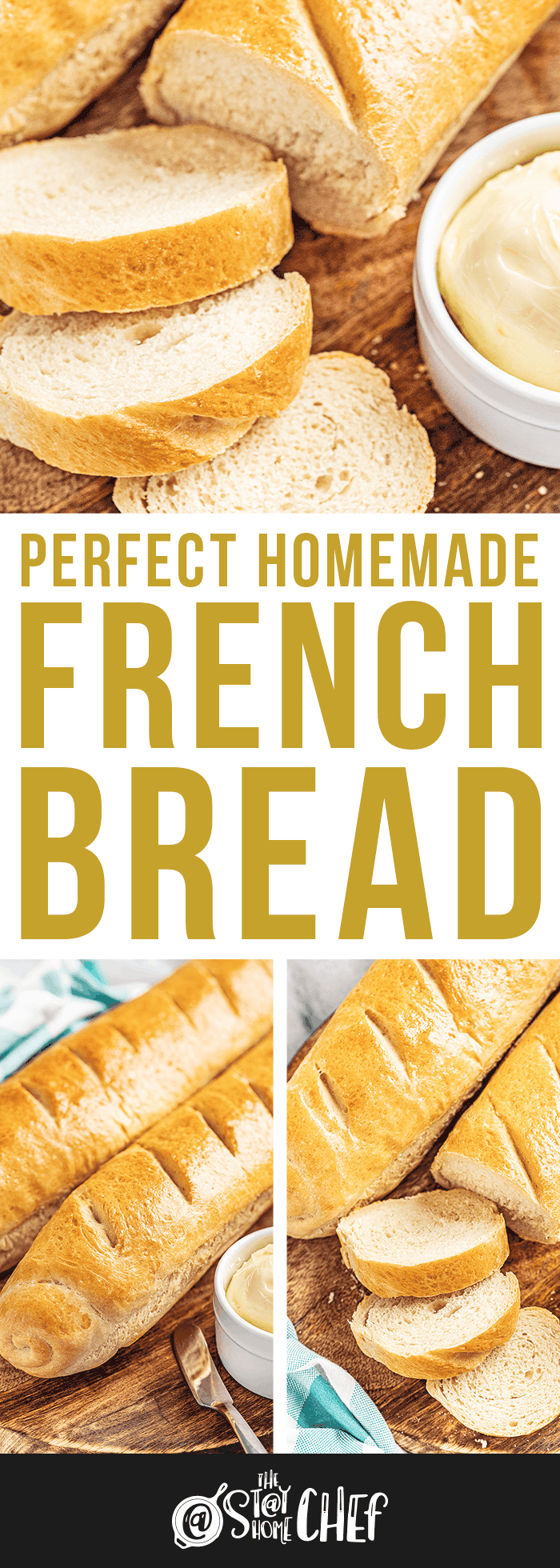 A sliced loaf of French bread