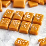 Caramels with salt on top.