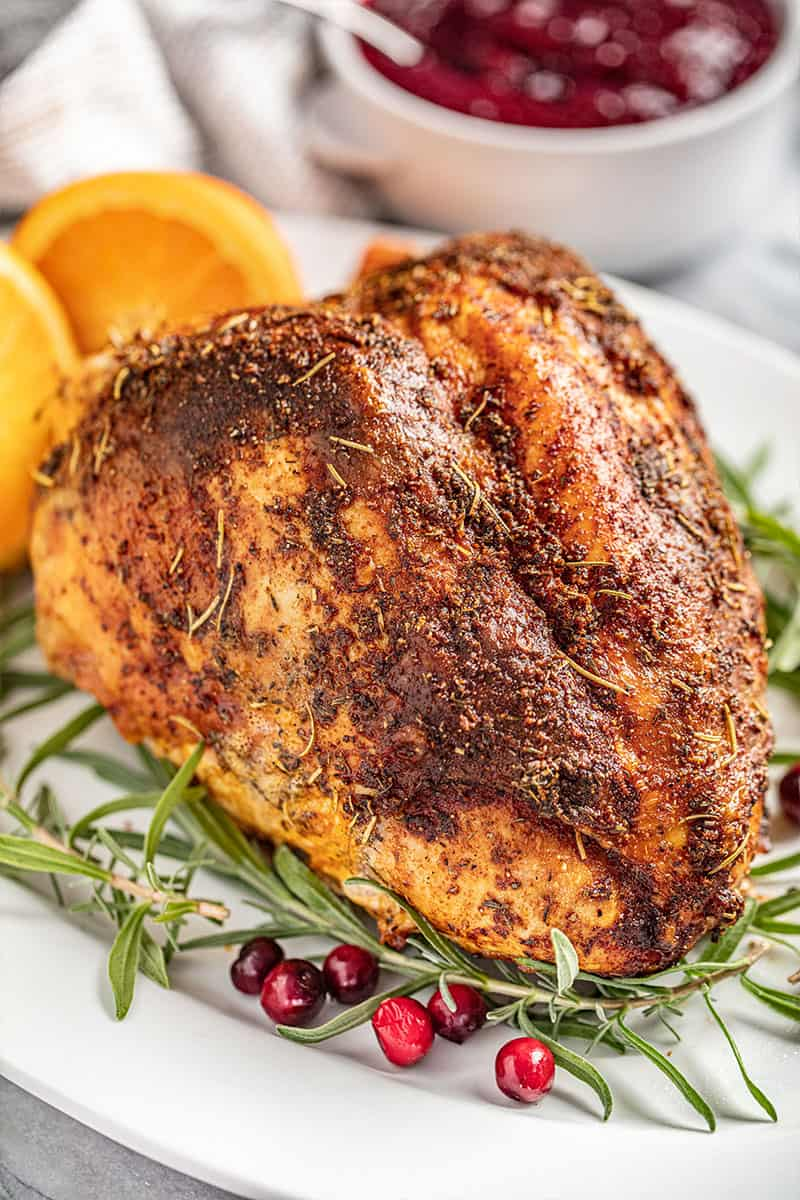 Simple Oven Roasted Turkey Breast Thestayathomechef Com