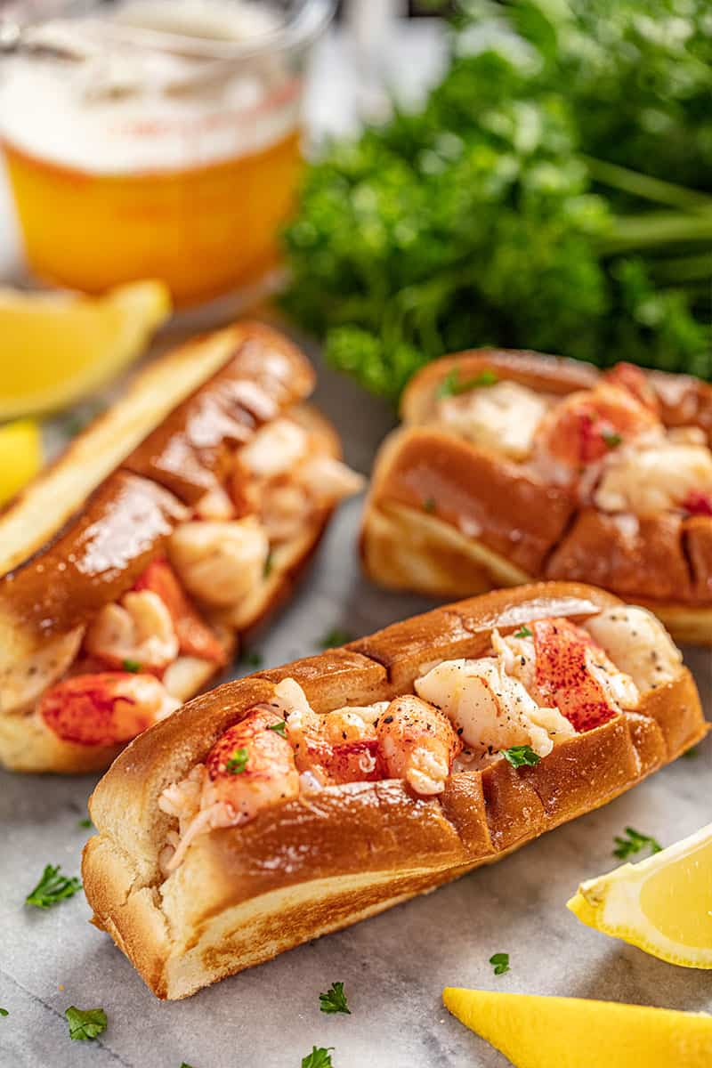 brown butter lobster rolls.