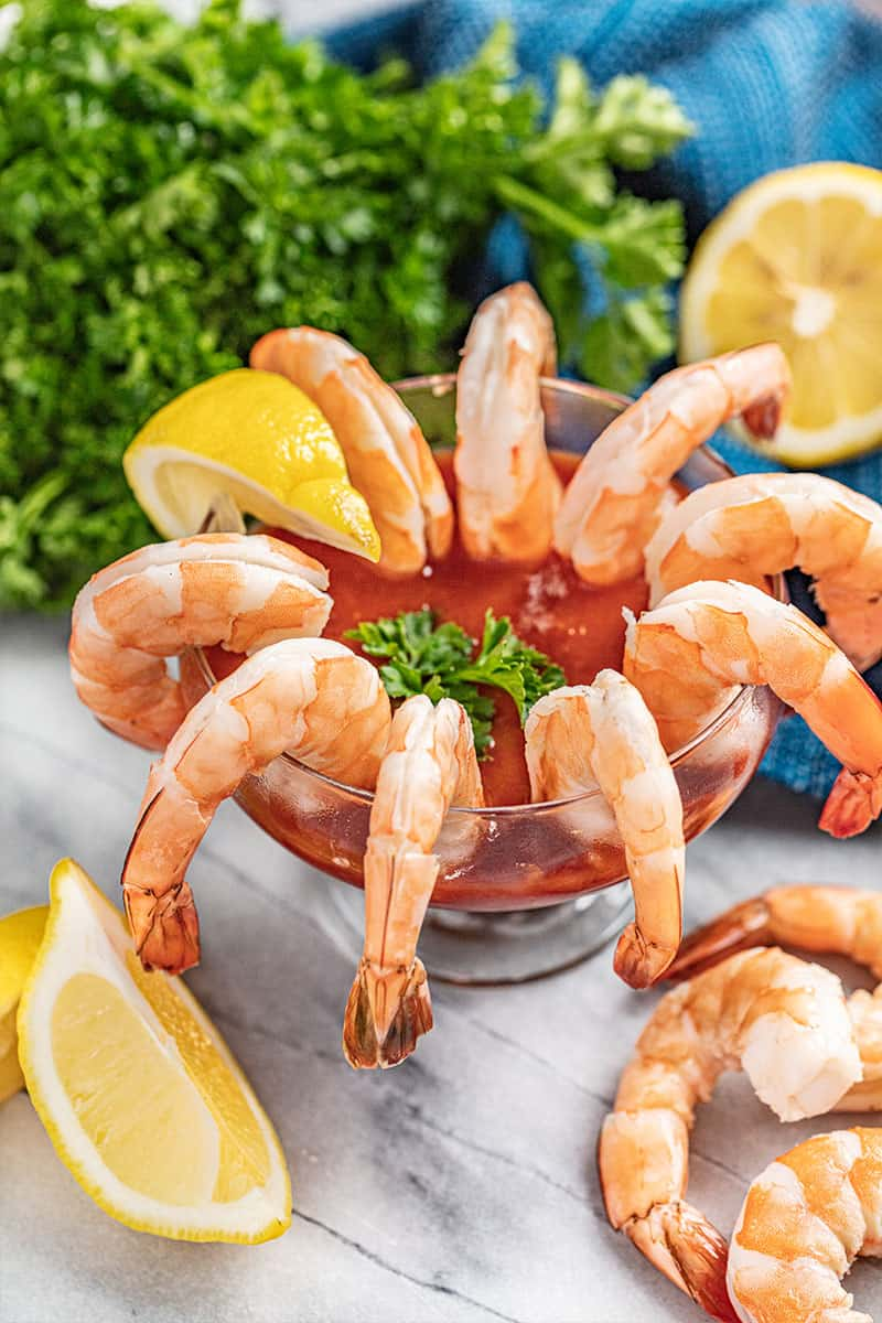 Shrimp Cocktail With Cocktail Sauce Thestayathomechef Com