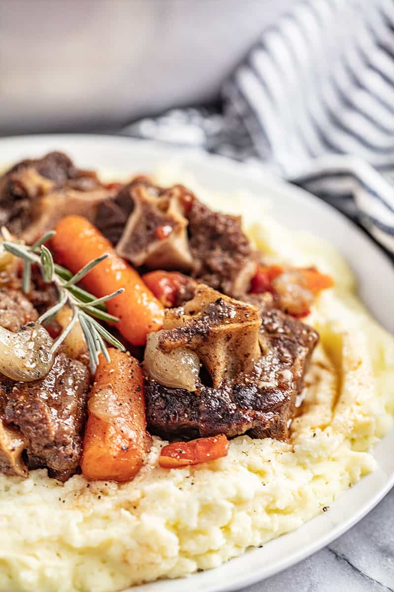 Braised oxtails with veggies.