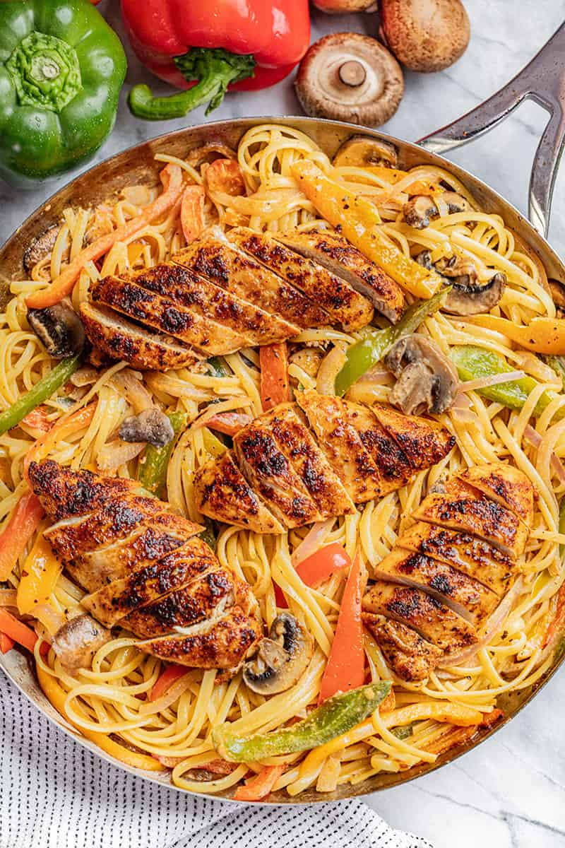 Cajun chicken pasta.