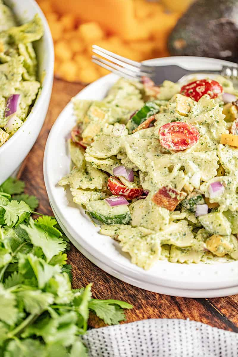 Cilantro ranch pasta salad.